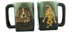 Mara Square Mug 12oz - Playful Puppies