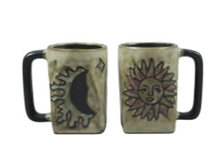 Mara Square Mug 12oz - Sun/Moon Tan