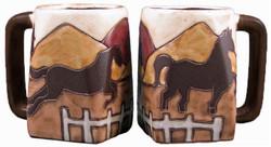 Mara Square Mug 12oz - Equestrian