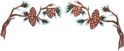 Pine Cone Branches Set (2 pc set)