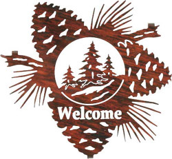 Pine Trees Pine Cone Welcome