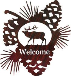 Elk Pine Cone Welcome