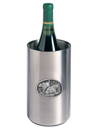 Stainless Steel Wine Chiller with Wildlife Pewter