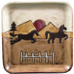 "Mara Square Plate 8"" - Equestrian"