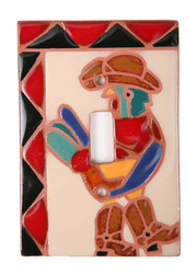 Colorful Rooster with Boots Switch Plate Cover