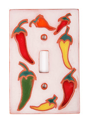 Circle of Chilis Light Switch Plate Cover