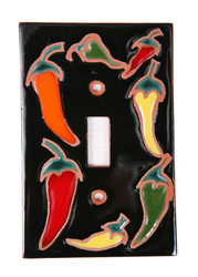 Circle of Chilis Dark Switch Plate Cover