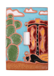 Cowboy Boot and Cactus Switch Plate Cover