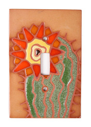 Cactus with Orange Flower Switch Plate Cover