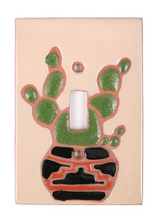 Cactus Pottery Dark Switch Plate Cover