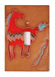 Red Spirit Pony Switch Plate Cover