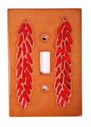 Terra Cotta Chili Ristra Switch Plate Cover