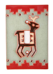 Deer with Southwest Border Switch Plate Cover