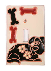Dog and Bones Switch Plate Cover