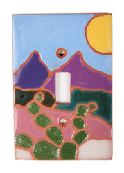 Cactus Scene with Sun Switch Plate Cover