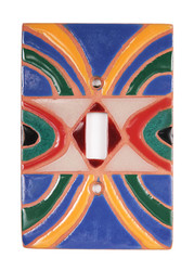Blue Circles Switch Plate Cover