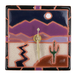 Desert Night Desk Clock