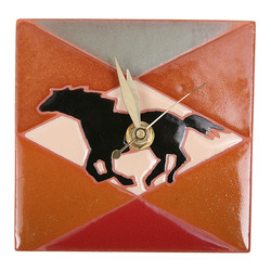 Galloping Horse Desk Clock