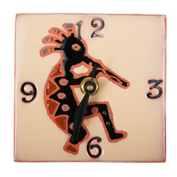 Kokopelli with Numbers Desk Clock