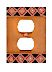 Terra Cotta with Border Switch Plate Cover