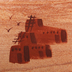 Hand Painted Pueblo Coasters - Set of 4