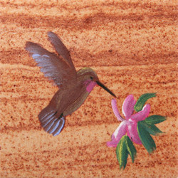 Hand Painted Hummingbird Coasters - Set of 4