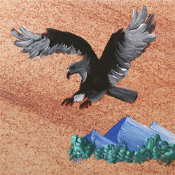 Hand Painted Eagle Coasters - Set of 4