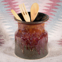 Rustic Flame Utensil Holder