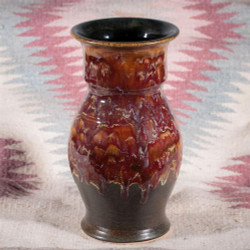 Rustic Flame Large Vase