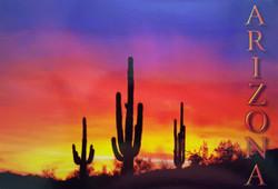 Arizona Sunset Postcard - Pack of 100