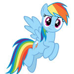 Rainbow Dash Cosplay Wig