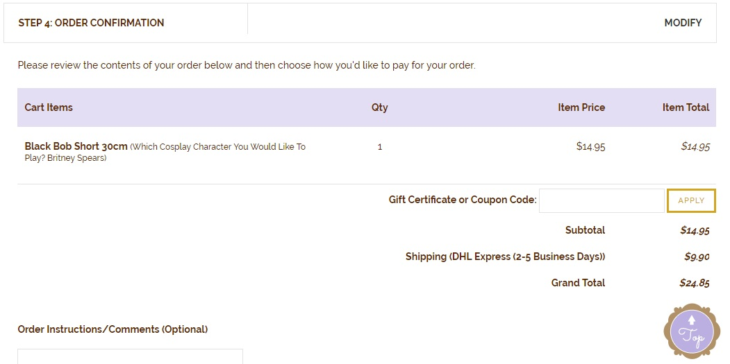 review cart in 2checkout