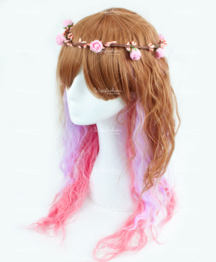 Multicolor Long Wavy 70cm