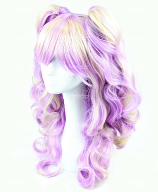 Light Violet Blonde Highlight Long Wavy 60cm
