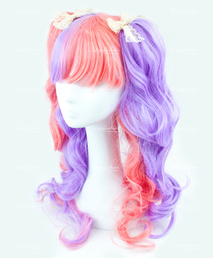 Two Tone Violet/Pink Long Wavy 65cm
