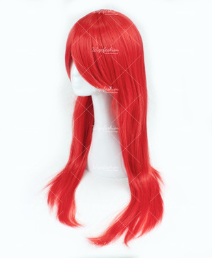 Bright Red Long Wavy 75cm