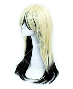 Two Tone Blonde with Black Tail Long Straight 75cm