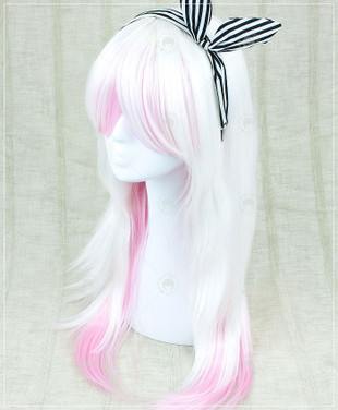 Two Tone Platinum/Pink Long Straight 70cm