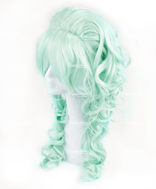 Mint Green Long Curly 70cm