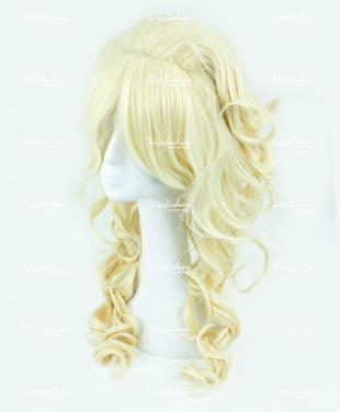 Light Blonde Long Curly 70cm
