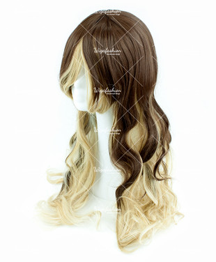 Two Tone Dark Brown/Blonde Long Wavy 70cm