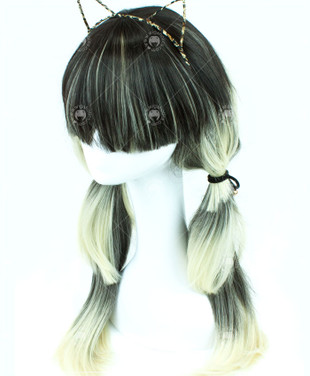 Two Tone Blue / Blonde Layered Long Straight 70cm