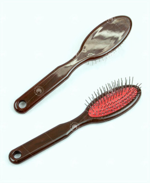 Anti-Static Stainless Steel Wig Brush - Dark Brown