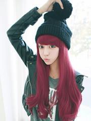 Premium Wig Cherries Jubilee - Straight Hair Wavy End (Red Wine)