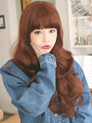 Premium Wig Sweet Spoon - Soft Curly Hair (Red Brown)