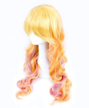 Two Tone Blonde/Light Pink Long Wavy 75cm