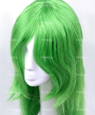 Light Green Long Straight 90cm