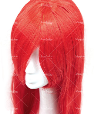 Bright Red Long Straight 90cm