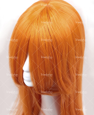 Marigold Orange Long Straight 100cm