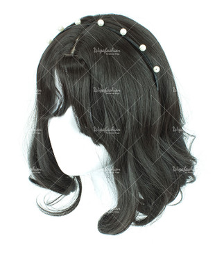 Black Short Curly 30cm